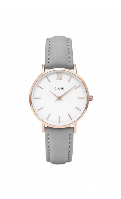 Cluse Minuit Rose Gold White/ Grey