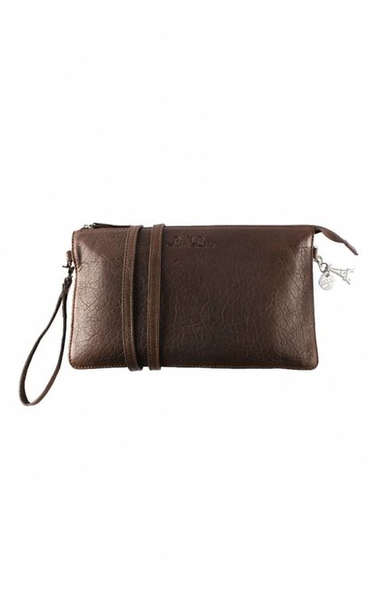 By LouLou Clutch Lovely Leather Leren Tas Bruin