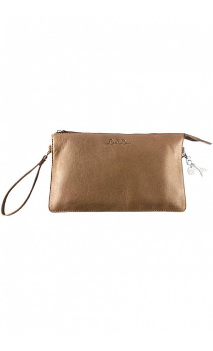 By LouLou Clutch Lovely Leather Leren Tas Camel