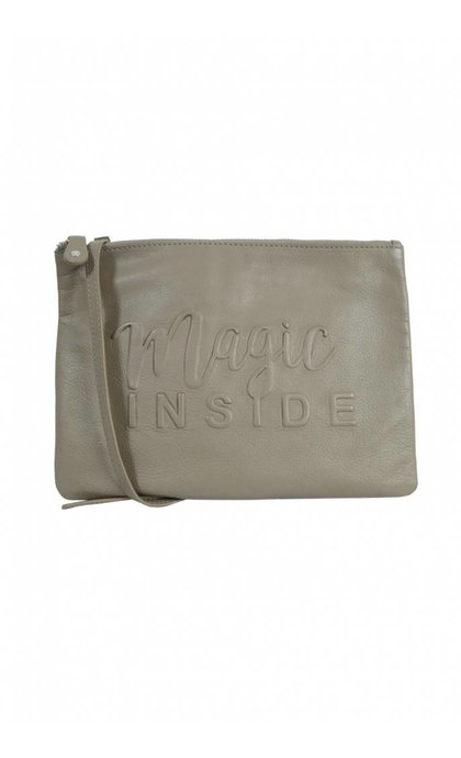 By LouLou Magic Inside Leren Tas Grijs