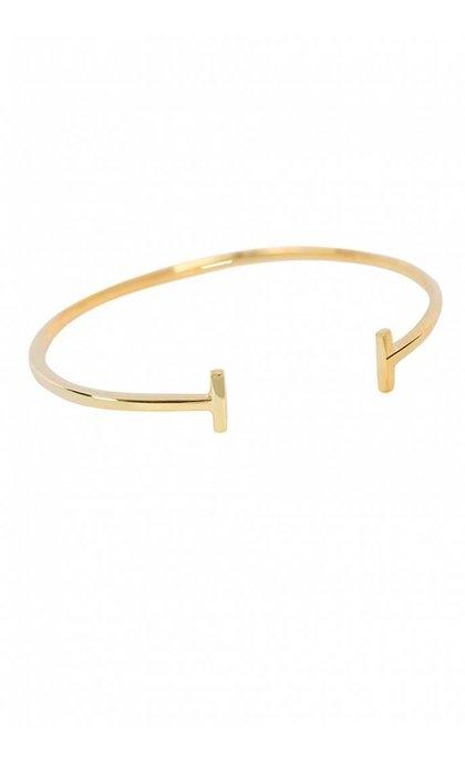 Anna + Nina Ingot Cuff Bracelet Goldplated