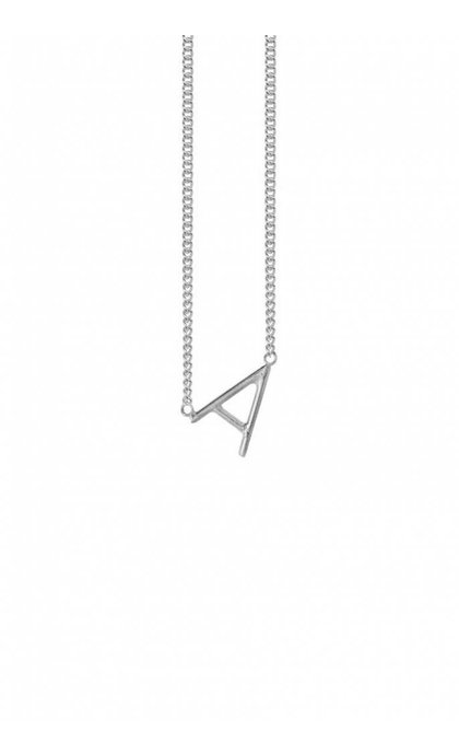 Anna + Nina Initial Letter Ketting A Zilver