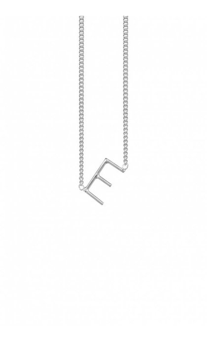 Anna + Nina Initial Letter Ketting E Zilver