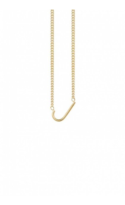 Anna + Nina Initial Letter Ketting J Verguld