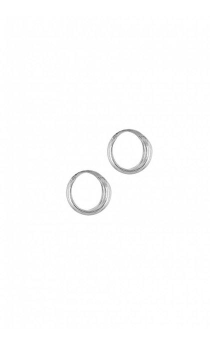 Anna + Nina Three Ring Oorbellen Zilver