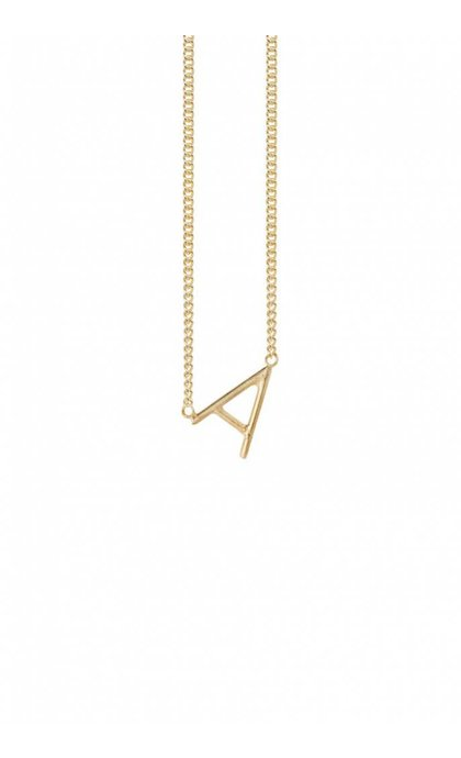 Anna + Nina Initial Letter Necklace A Goldplated