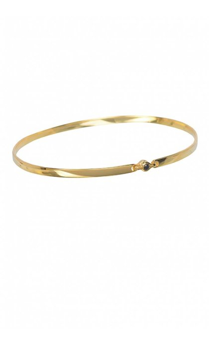 Anna + Nina Tiny Stone Bangle Armband Verguld