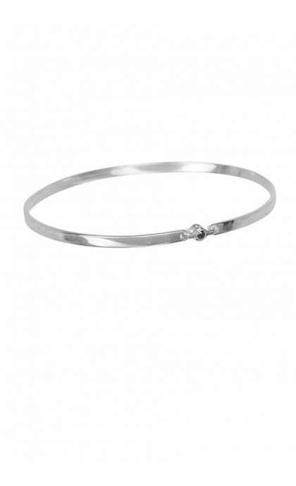 Anna + Nina Tiny Stone Bangle Armband Zilver