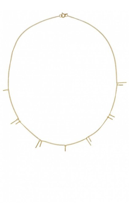 Anna + Nina Twig Necklace Goldplated