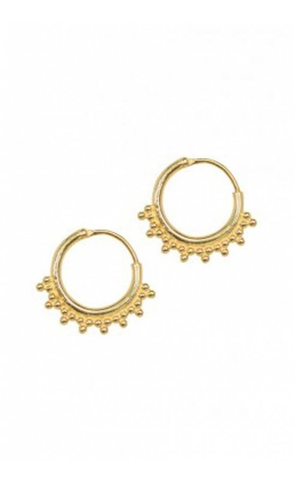Anna + Nina Tiny Goa Earring Goldplated