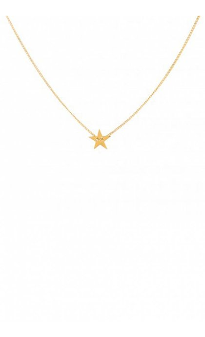 Anna + Nina Little Star Necklace Ketting Verguld