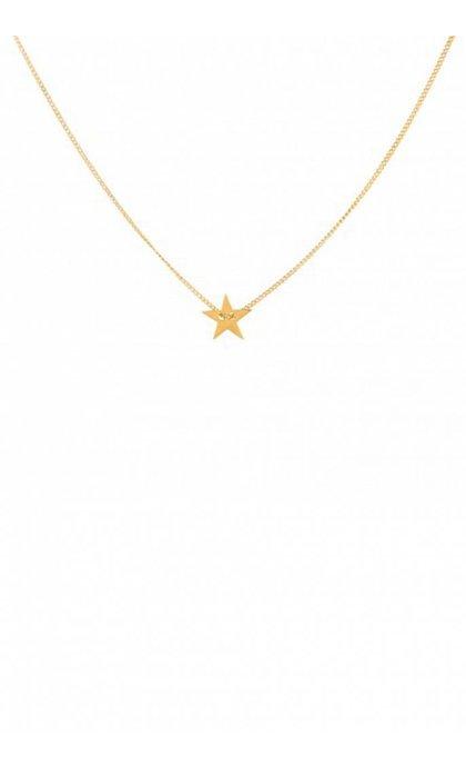 Anna + Nina Little Star Necklace Ketting Verguld