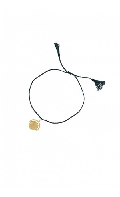Anna + Nina Sovereign Thread Bracelet Navy Goldplated