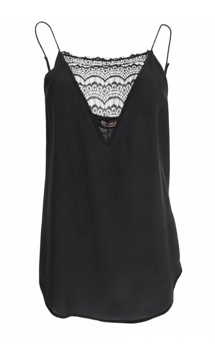 Custommade Elvira Silk Lace Camisole Black