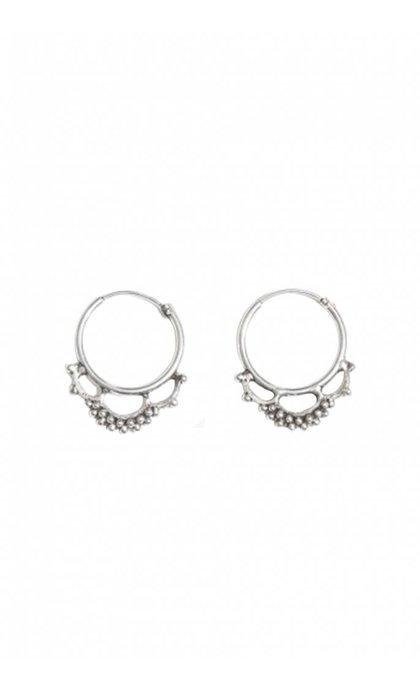 Fashionology Nebula Hoop Earrings Silver