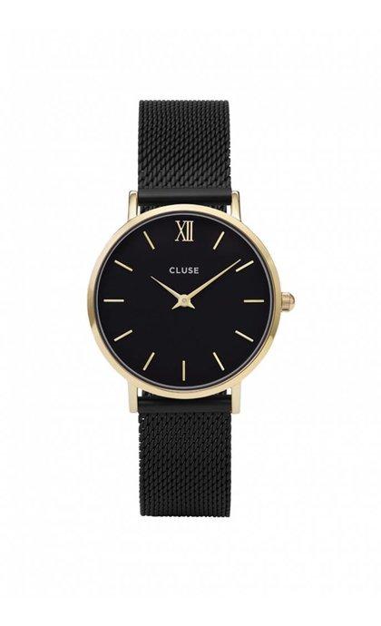 Cluse Minuit Mesh CL30026 Gold Black/Black