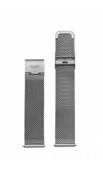 Cluse Minuit Strap Mesh Silver