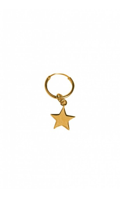 Fashionology Star Hoop Earring Gold Plated