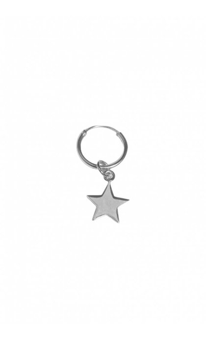 Fashionology Star Hoop Earring Silver