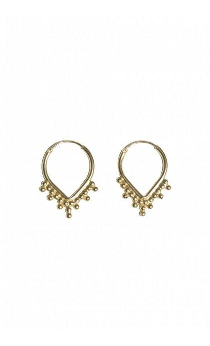 Fashionology Nimbus Hoop Earrings Goldplated
