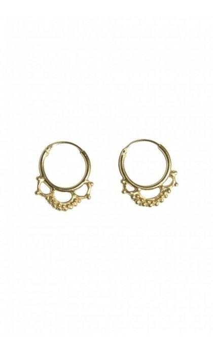 Fashionology Nebula Hoop Earrings Goldplated