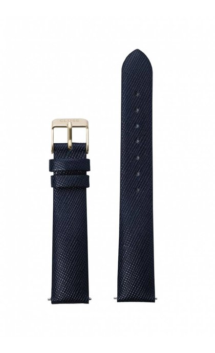 Cluse Minuit Watch Strap CLS360 Midnight Blue Gold