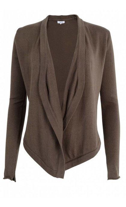 Fabriq Boutique Shawl Knit Cardigan Taupe