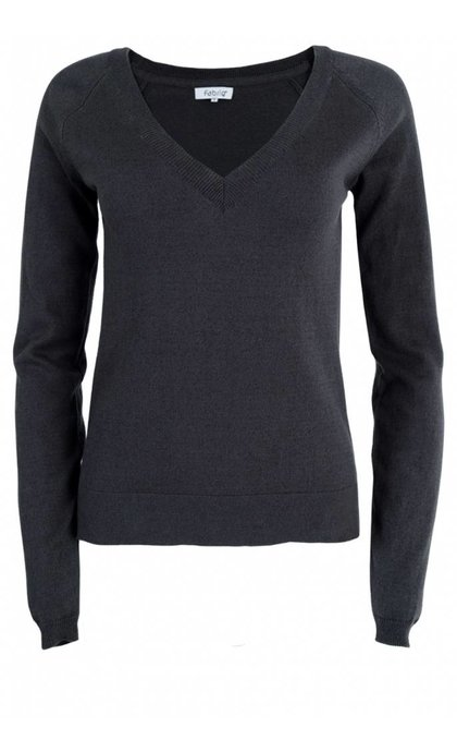 Fabriq Boutique V-Neck Knit Antracite
