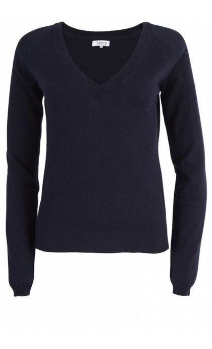 Fabriq Boutique V-Neck Knit Navy