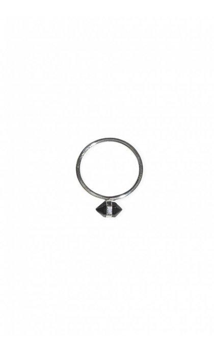 Fashionology Casing Ring Black Obsidian