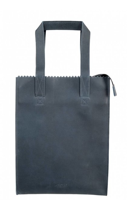 MYOMY Do Goods MY PAPER BAG Long Handle Zip Hunter Blue Grey