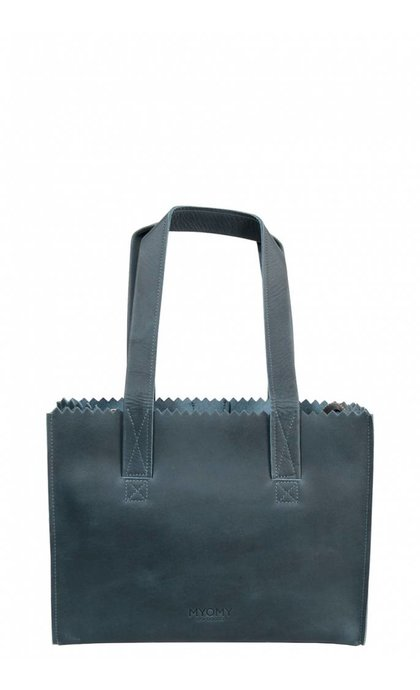MYOMY Do Goods Handbag Hunter Blue Grey