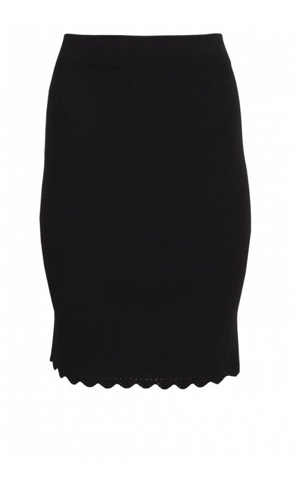 French Connection Lela Crepe Knits Pencil Skirt Black