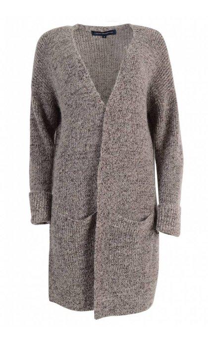 French Connection Patsy Melange Knit Oversized Cardigan Grey Melange
