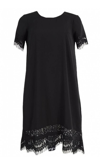 French Connection Classic Crepe Light Woven Tunic Dress Black