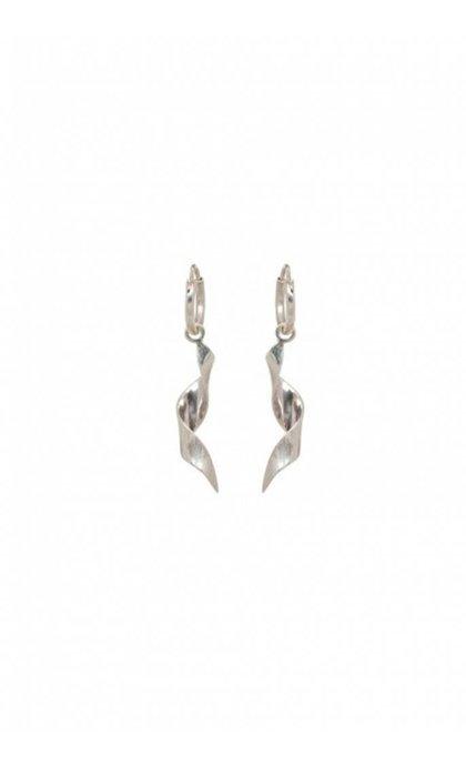 Anna + Nina Twirl Ring Earring Silver