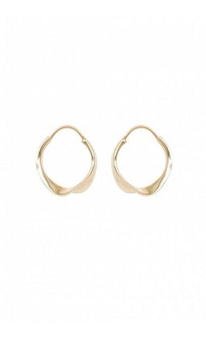 Anna + Nina Twirl Hoop Earring Goldplated