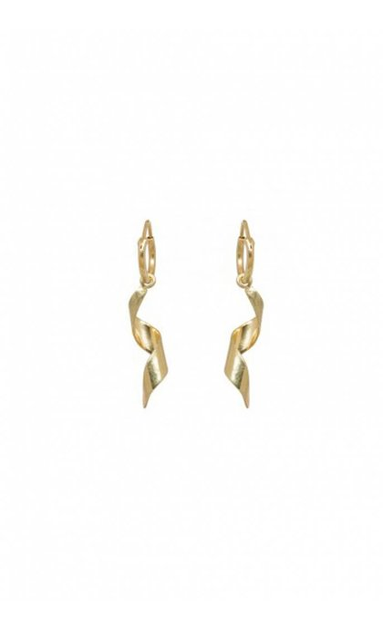 Anna + Nina Twirl Ring Earring Goldplated