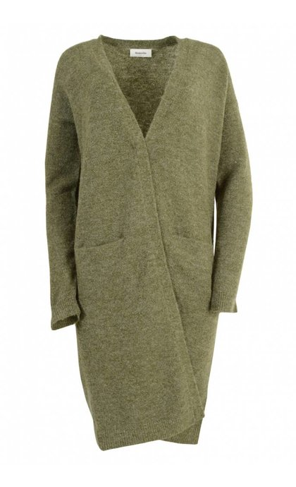 Modstrom Sheena Long Cardigan Moss Green