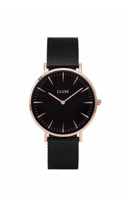 Cluse La Boheme Mesh Rose Gold Black/Black