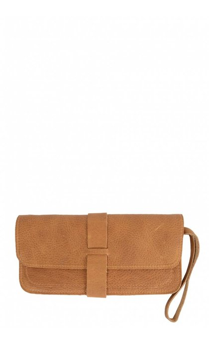 Keecie Top Secret Clutch Cognac