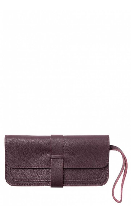 Keecie Top Secret Clutch Aubergine
