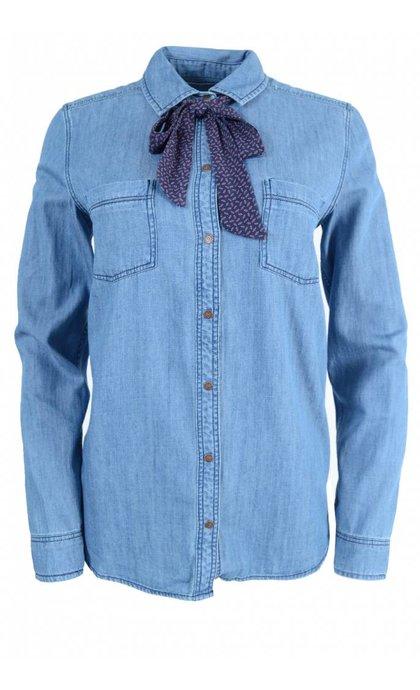 MKT Studio Chaly California Shirt Blue Decker Wash