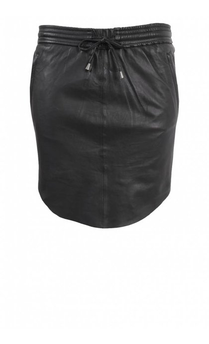Second Female Pril Leather Skirt Black