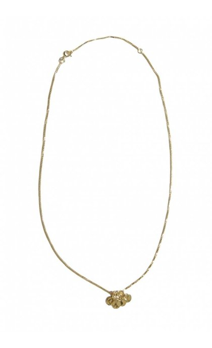 Fashionology Nano Tag Necklace Goldplated