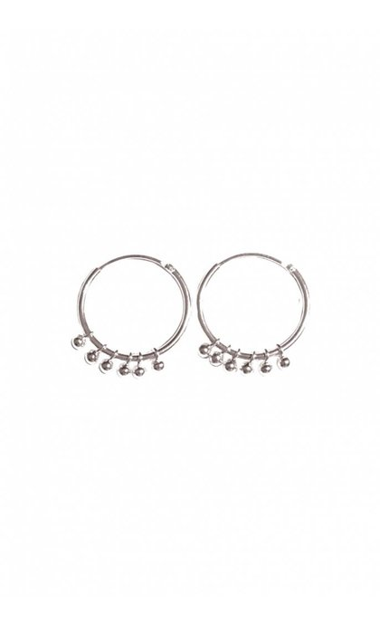 Fashionology Rosie Hoop Earrings Silver