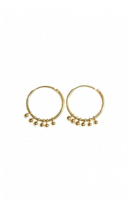 Fashionology Rosie Hoop Earrings Goldplated