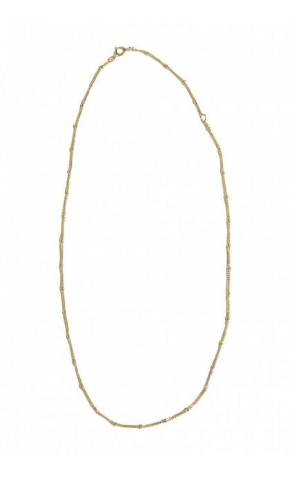 Fashionology Saturn Chain Necklace Goldplated