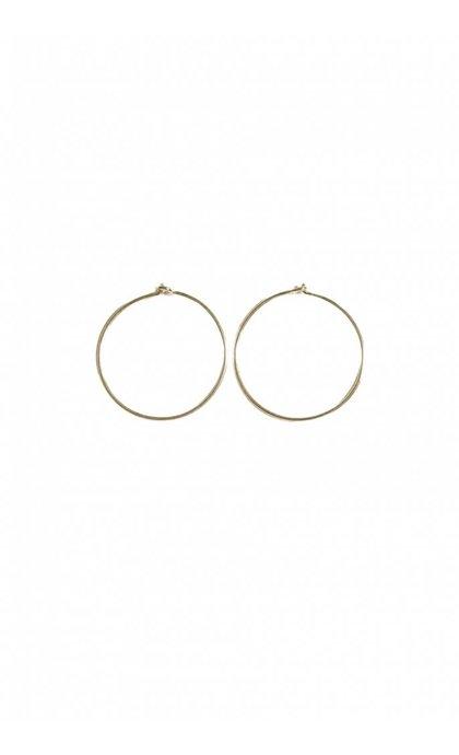 Fashionology Sleeper Hoop Earrings Gold 20mm