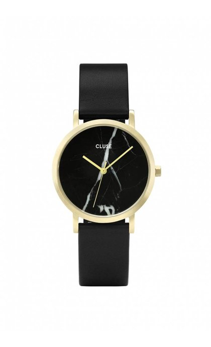 Cluse La Roche Petite Gold Black Marble/ Black
